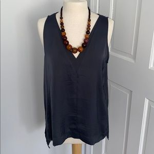 Silky Slate Grey Blouse from Nordstrom